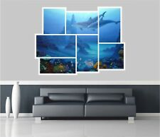 Huge Collage View Dolphins Under Sea Wall Stickers Decal Wallpaper 467