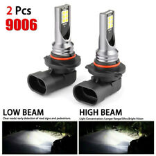 Pair Combo LED Mini 9006 Headlight Kit High Low Beam 120W 30000LM 6000K FOG Bulb