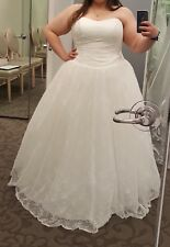 Lace Ball Gown Duchess Cap Sleeve Wedding Dresses For Sale Ebay