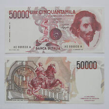 RIPRODUZIONE 50.000 LIRE BERNINI I SERIE SOST XE BANCONOTA  LIRA FDS SAMSUNG
