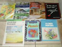 7 Painting Books How to Paint Lot C Watercolours Flowers Buildings Barns ++