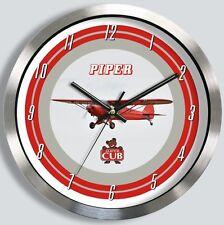 PIPER PA-18 SUPER CUB METAL WALL CLOCK PA18