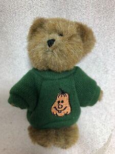 Boyds Bear Mini Message Bear ~ Bear with Pumpkin