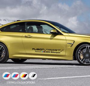 2 x Fusion Sports Powered by BMW M Motorsport Door Car Vinyl STICKERS Decals