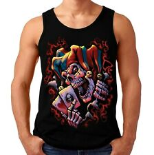 MENS WHITE TANK THE CRAMPS ROSELAND THEATRE GIG POSTER DEVIL GARAGE HORROR S-5XL