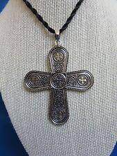 African Jewelry ETHIOPIAN ERITREAN STYLE ORTHODOX CHRISTIAN COPTIC CROSS DD