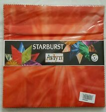 "Starburst 10""X10"" Charm Pack 40pcs, tie-dyed different colors."