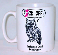 Rude Irritable Owl Syndrome Mug Can Be Personalised Funny Sweary Gift Present