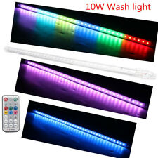 RGB Rainbow LED Wall Wash Stage Lighting Bar USB Disco DJ Party Lamp+Remote 10W