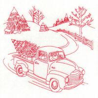 Vintage Winter Christmas Scenes Quilt Blocks Embroidered NICE SET