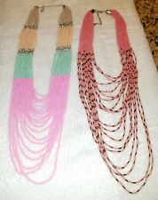 Native american jewelry Beaded necklaces very long