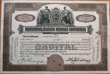 IBM 'International Business Machines' 1945 OLD VERSION Stock Certificate