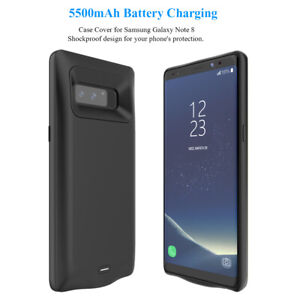5500mAh Battery Charging Power Bank Charger Case Cover for Samsung Galaxy Note 8