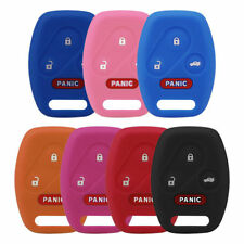 4Button Silicone Car Key Keyless Remote Fob Cover Case For Honda Accord Civic