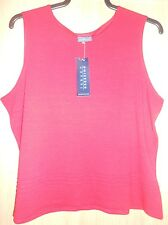 BNWT Debenhams Casual Red Stretch Vest Top size 20