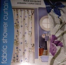 Floral Jacquard Shower Curtain Cotton Blend  NEW WITH TAGS