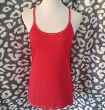 EXPRESS Sexy Red Shimmery Sparkle/Glitter Trim Racerback Tank Top Large NWT
