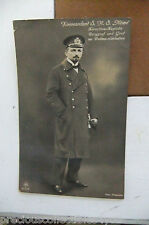 GERMAN WWI WW1 NO SANKE POSTCARD PHOTO LIEUTNANT COM. MÖWE MOEWE DOHNA SCHLODIEN