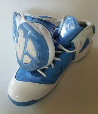 AIR JORDAN • PLAY IN THESE HIGHTOPS • NORTH CAROLINA BLUE & WHITE • SIZE 13