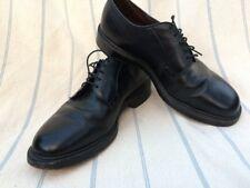 Allen Edmonds Leeds Plain Toe Blucher Black Pebbled Leather Oxford Dress Shoe 8
