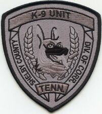 SHELBY COUNTY TENNESSEE TN DOC CORRECTIONS SHERIFF K-9 POLICE PATCH