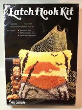 Vintage Sew Simple Sunrise #T518 Latch Hook Kit 12� x 12� from 1979 ~ Excellent!