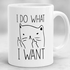 I Do What I Want Mug, Funny Cat Coffee Mug, Cat Lover Gift, Grumpy Cat Mug cup