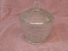 Vintage Pressed Clear Glass Sugar Bowl/Candy Dish with Lid (KIG ??)