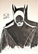 BOB KANE ORIGINAL HAND  DRAWN AND SIGNED * BATMAN * INK ON PAPER SKETCH