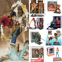 One Piece PVC Action Figure Monkey D Luffy Ace Zoro Sanji Brook Model Toy in Box