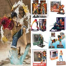 Anime One Piece PVC Figuren Luffy Zoro Nami Ace Statue Figur Spielzeug Sammlung