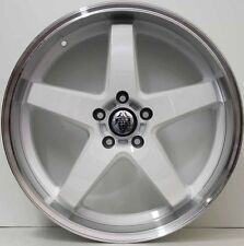 20 inch GENUINE HRS R1 ALLOY WHEELS TO SUIT FPV FORD FALCON DEEP DISH IN WHITE