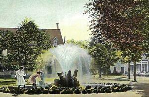 CE-063 NY Chautauqua C.L.S.C. Fountain Girls  Raphael Tuck divided Back Postcard