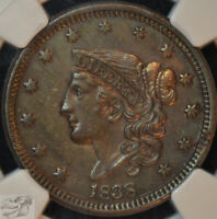1838 Coronet Large Cent, NGC AU Details, Lightly Cleaned, Very Nice Cent, C4924
