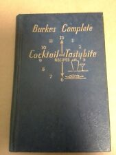 Burkes Complete Cocktail And Tastybite Recipes Harman Burney 1936 New York