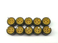 Hot Wheels 4 Spoke (YELLOW BROWN) High Quality Black Rubber Tire for JDM 5 sets