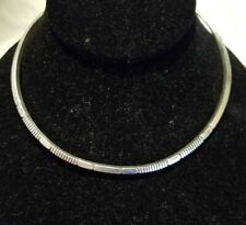 - Signed by J Nez Navajo Sterling Silver .925 Choker Necklace