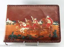 SUPERBE ALBUM PHOTO ANCIEN EN CUIR REPOUSSE, cavaliers et chevaux arabes