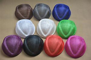 Sinamay Air Hostess Teardrop Pillbox Percher Hat Fascinator Millinery Base B062