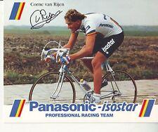 CYCLISME carte  cycliste CORNE VAN RIJEN  équipe PANASONIC isostar 1988