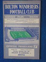 Bolton Wanderers v Arsenal - 2/9/61 - Programme