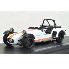 Kyosho 1/43 K03156W 1/43 CATERHAM SUPER 7 CYCLE-FENDER White/Orange Stripes