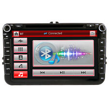 "UK 8"" 2 DIN Car Stereo Head Unit GPS Sat Nav For VW GOLF PASSAT SKODA SEAT JETTA"
