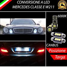 LUCI POSIZIONE A LED + LUCI TARGA A LED CANBUS MERCEDES CLASSE E W211 NO ERROR