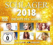 SCHLAGER 2018 - DIE HITS DES JAHRES ANDREA BERG/HELENE FISCHER/+  2 CD+DVD NEUF