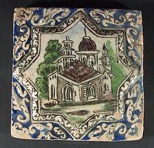Antik islámicos Qajar estrella relief cerámica loseta mosaico Islamic tile-M