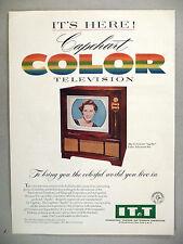 """Capehart """"Apollo"""" Color Television PRINT AD - 1955"""