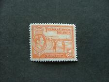 Turks & Caicos Islands KGVI 1944 2½d orange SG199a MM