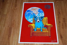 George Rodrigue Blue Dog Strato Lounger Silkscreen Print Signed Numbered Artwork