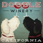 Doodle Winery California by Ryan Fowler 12x12 Art Print Wine Signs Dogs Labradoo